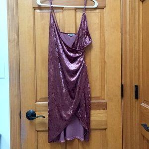 NWT Velvet Asymmetrical Wrap Dress